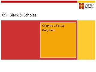 09– Black &  Scholes