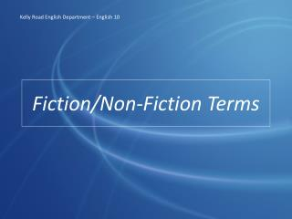 Fiction/Non-Fiction Terms