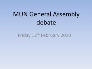 MUN General Assembly debate