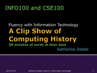 A Clip Show of Computing History 50 minutes of nerds at their best