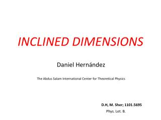 INCLINED DIMENSIONS