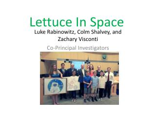 Lettuce In Space