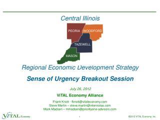 Central Illinois Regional Economic Development Strategy Sense of Urgency Breakout Session