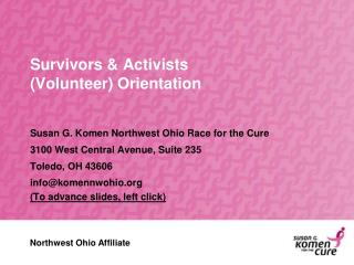 Survivors & Activists  (Volunteer) Orientation
