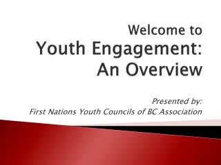 Welcome to Youth Engagement: An Overview