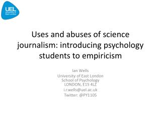 Uses and abuses of science journalism: introducing psychology students to empiricism