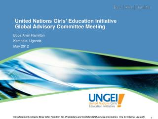United Nations Girls' Education Initiative Global Advisory Committee  Meeting
