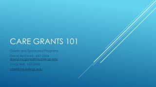 CARE  Grants 101