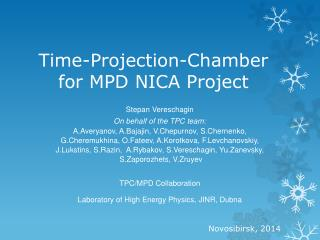 Time-Projection-Chamber for MPD NICA Project
