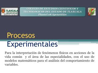 Procesos  Experimentales