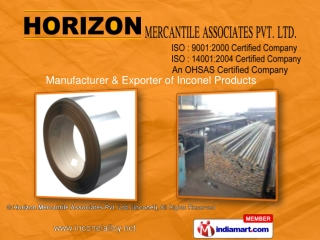 Inconel Buttweld Fittings By Horizon Mercantile Associates