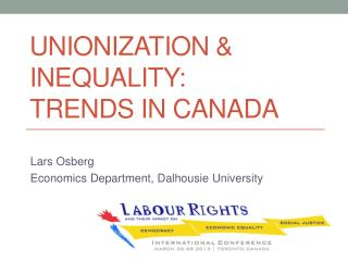 Unionization & Inequality:  Trends in Canada