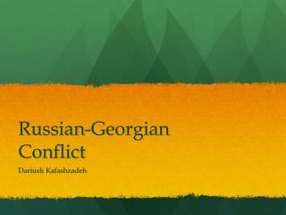Russian-Georgian Conflict