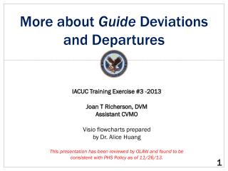 More about  Guide  D eviations and Departures