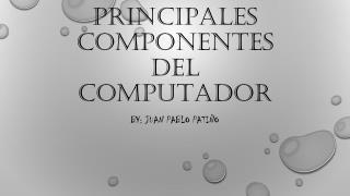 Principales componentes del computador