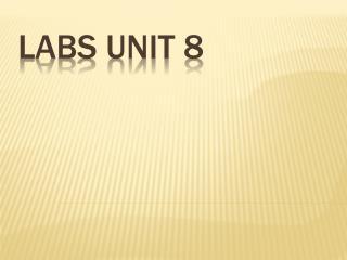 labs unit 8