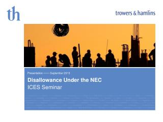 Disallowance  Under the  NEC