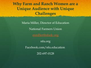 Why  Farm and Ranch Women are a Unique Audience with Unique Challenges
