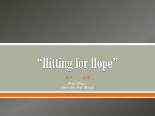 """""""Hitting for Hope"""""""