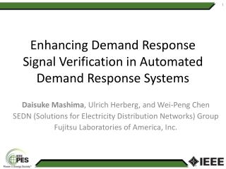 Enhancing Demand Response Signal Verification in Automated Demand Response Systems