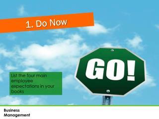 1. Do Now