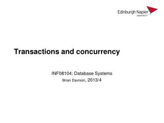 Transactions and concurrency