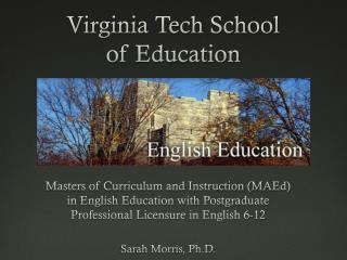 Virginia Tech School  of Education