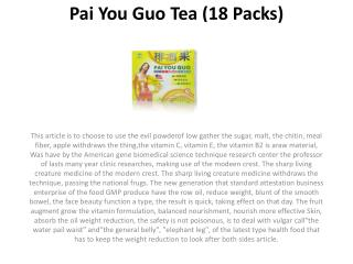 Pai You Guo Tea