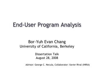 End-User Program Analysis