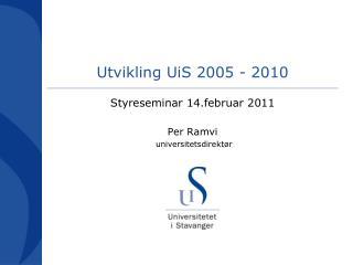 Utvikling  UiS  2005 - 2010