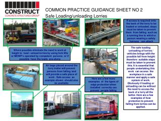COMMON  PRACTICE  GUIDANCE  SHEET NO 2                            Safe  Loading/unloading Lorries