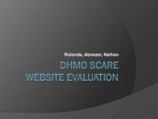 DHMO SCARE Website Evaluation