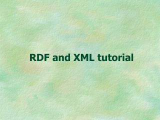 RDF and XML tutorial
