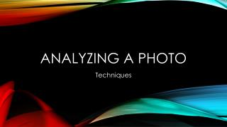 Analyzing a Photo