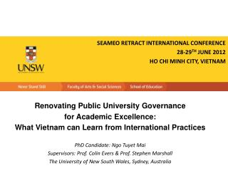 Renovating Public University Governance  for Academic Excellence: