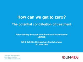 How can we get to zero? The potential contribution of treatment