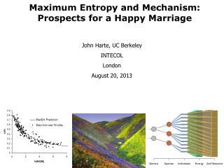 John Harte, UC Berkeley INTECOL London August 20, 2013