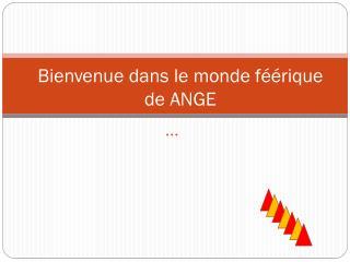 Bienvenue dans le monde f��rique de ANGE