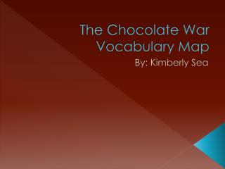 The Chocolate War Vocabulary Map