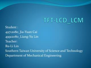 TFT-LCD_LCM