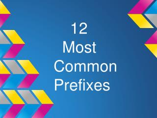 12   Most Common        Prefixes