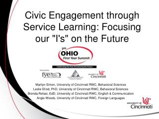 "Civic Engagement through Service Learning: Focusing our ""I's"" on the Future"
