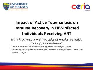 Impact of Active Tuberculosis on  Immune Recovery in HIV-infected Individuals Receiving ART