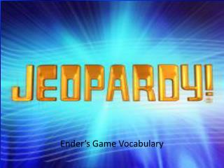 Ender�s Game Vocabulary