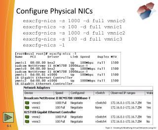 Configure Physical NICs