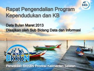 Rapat Pengendalian  Program  Kependudukan dan  KB