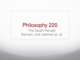 Philosophy 220