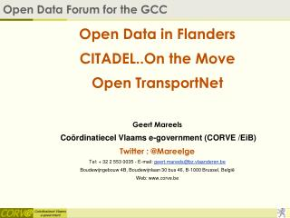Open Data Forum for the GCC