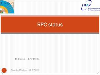 RPC status