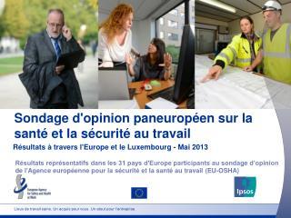 Sondage d'opinion paneuropéen sur la santé et la sécurité au travail